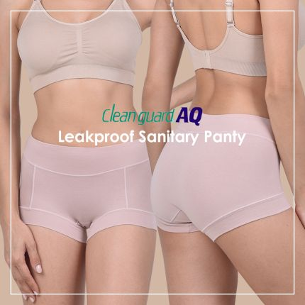 leak proof clean guard sanitary panty- daytime period panties - mid-rise