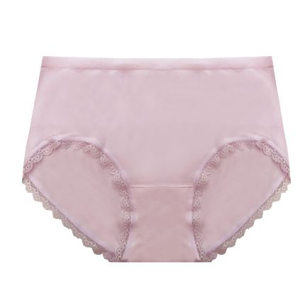 super stretch knitted lace trimmed bikini panty