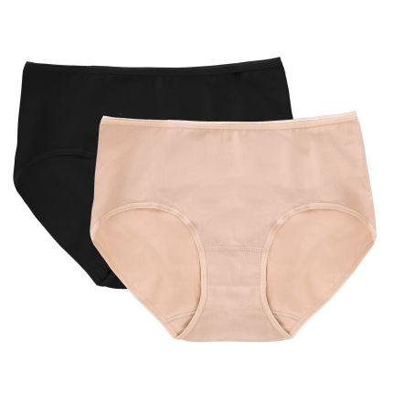 cotton spandex midi panty (pack of 2)